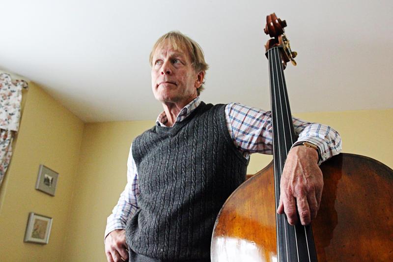 Ed Fedewa with the bass he built.