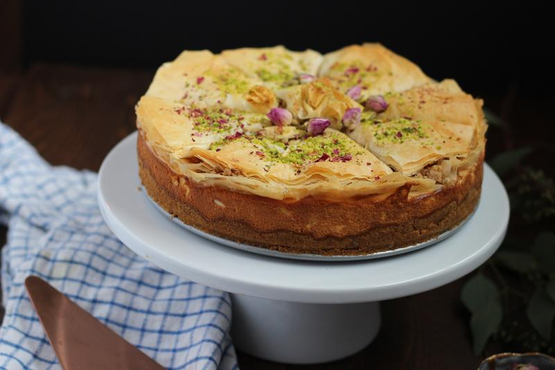 Scroll through this slide show to see Amanda Saab bake her cheesecake step by step.