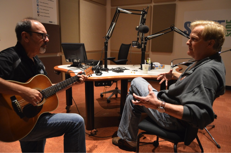 Jeff Daniels talks guitar with Michigan Radio Chief Engineer Bob Skon