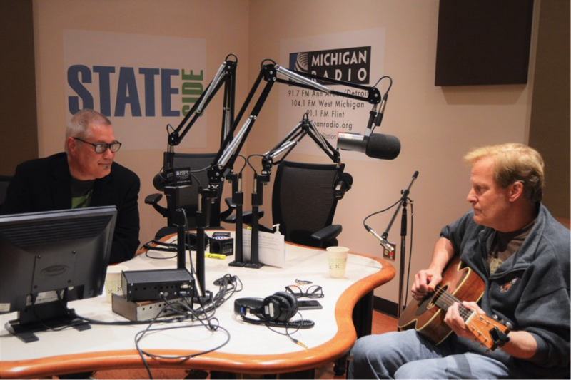 Jeff Daniels performs a song in the Stateside studio
