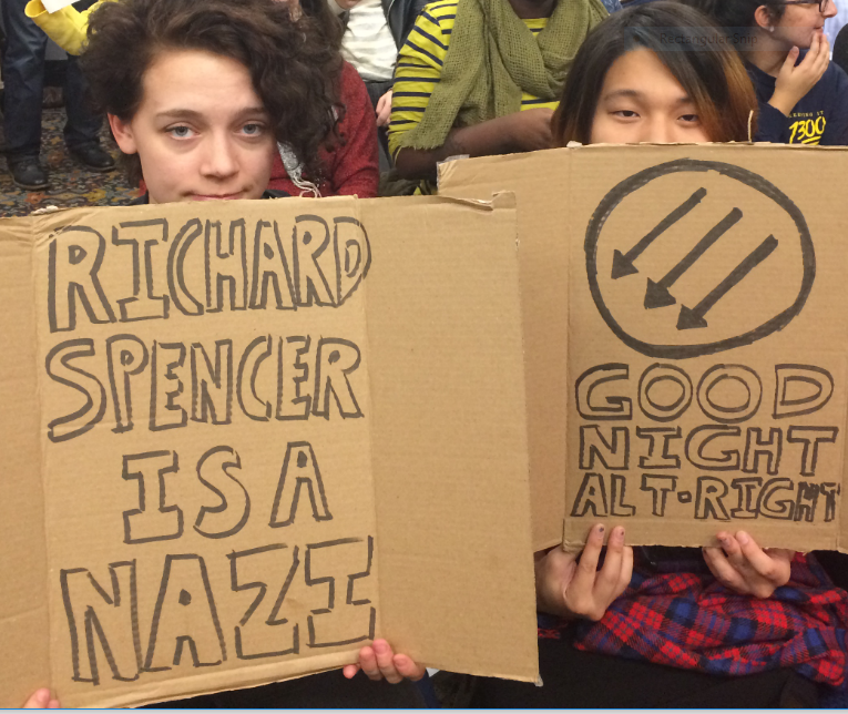 U of M students protesting Richard Spencer appearance