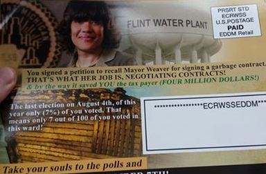 Mysterious mailers collected by the Michigan Campaign Finance Network.