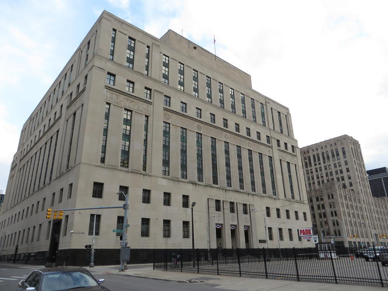 U.S. courthouse in Detroit, where lawsuit was filed