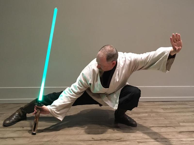 Chad Eisner with light saber