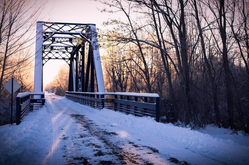 Sanford bridge on the Pere Marquette rail trail