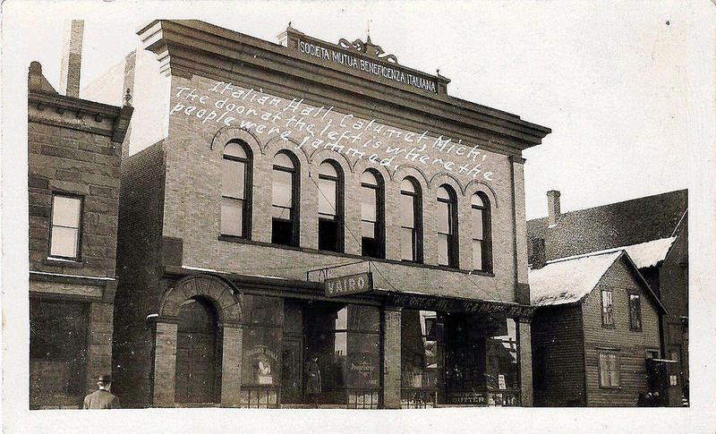 The Italian Hall in Calumet, now demolished, was the site of a Christmas Eve massacre in 1913