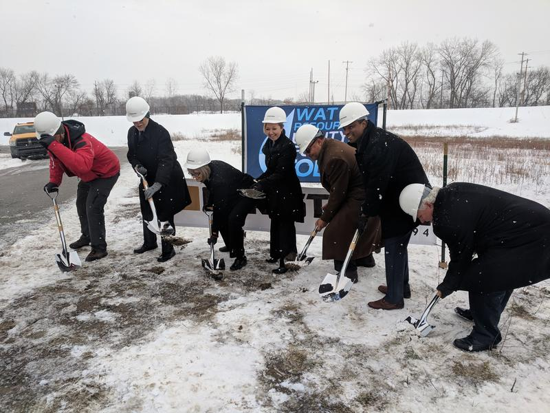 Grand Rapids city officials putting shovels into the ground