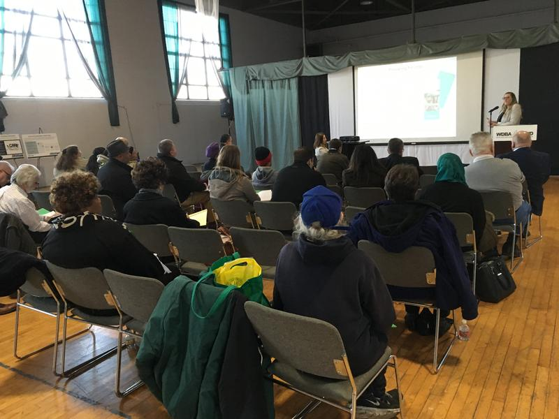 The Windsor-Detroit Bridge Authority's public information meeting in Detroit