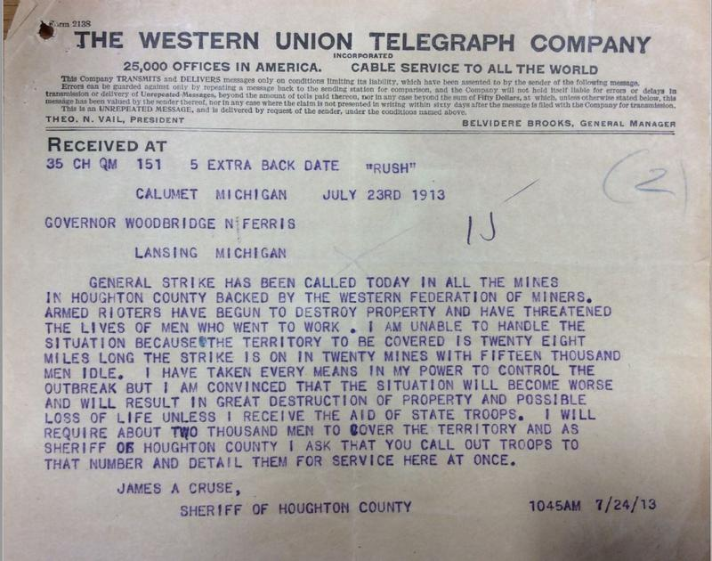 Telegram from the first day of the strike