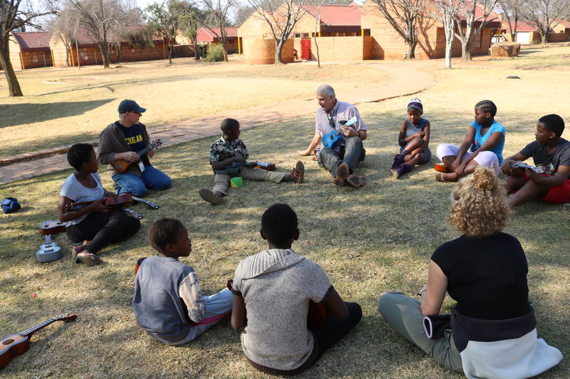 Music circle at Care Village Orphanage, Middleburg, South Africa