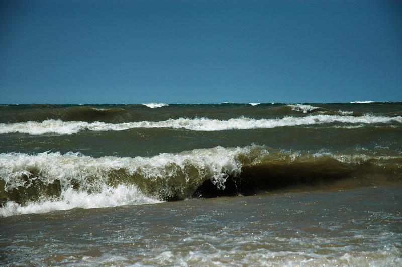 Waves on Lake Michigan.
