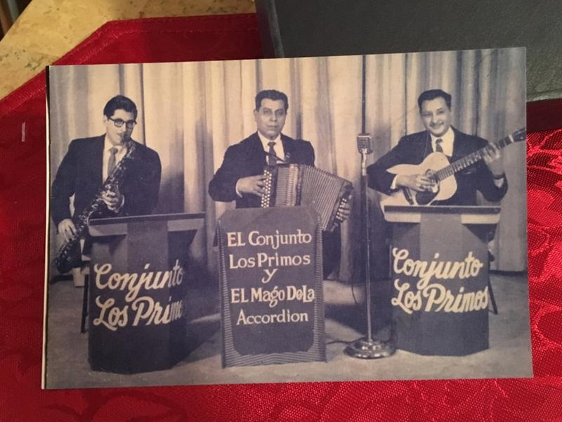 Willy Huron on saxophone, Casimiro Zamora on accordion and Martin Solis on bajo sexto.