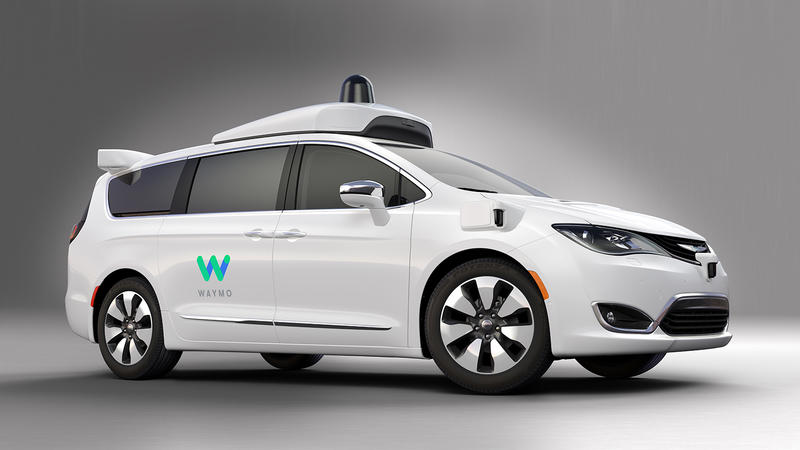 2017 Chrysler Pacifica Hybrid minivan equipped with Waymo's fully self-driving technology.