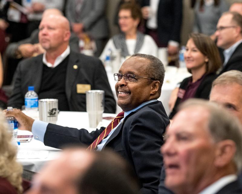 CMU outgoing president George E. Ross