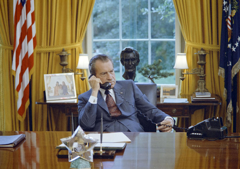 President Richard Nixon in the Oval Office, 1972