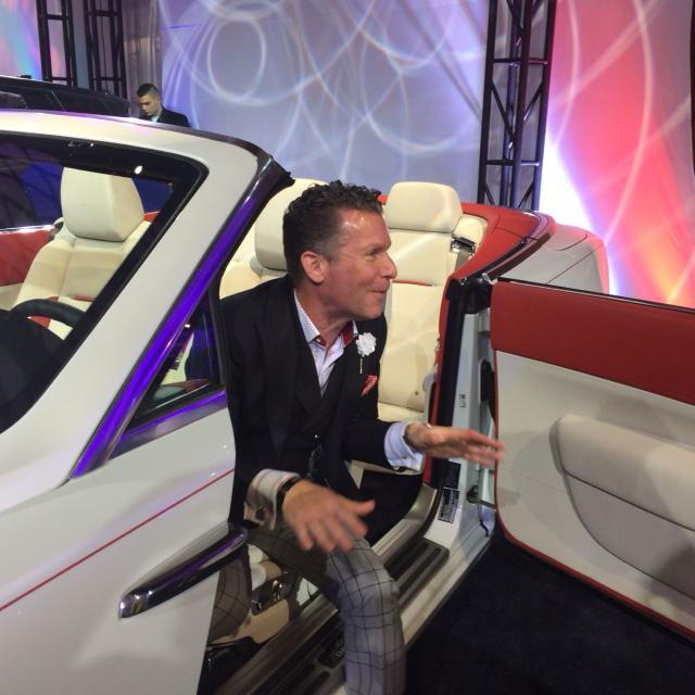 David Loehr checking out a new Rolls Royce