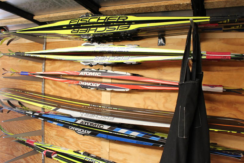 """Everyone has their crutch,"" says Eli Brown. ""Mine is collecting skis."""