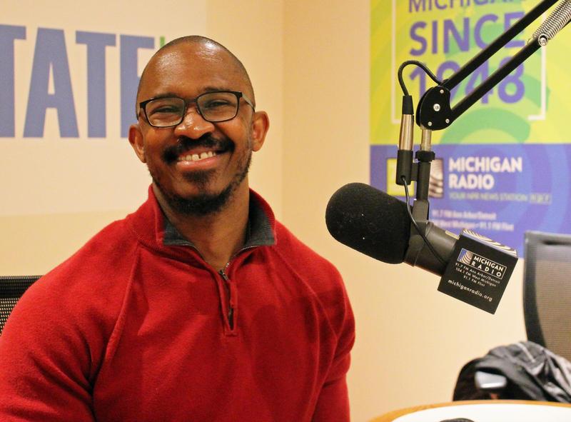 Joshua Johnson in the Michigan Radio studios.