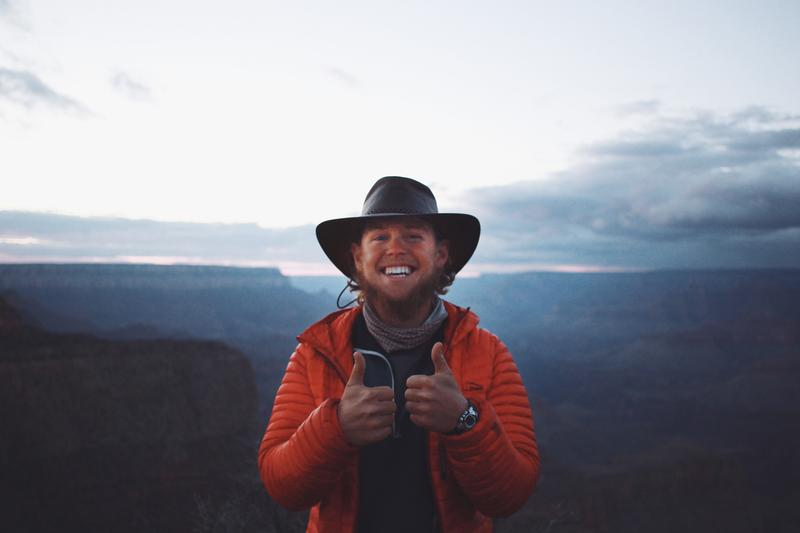 Chris Andrews walked to the Grand Canyon with the Let's Talk project.