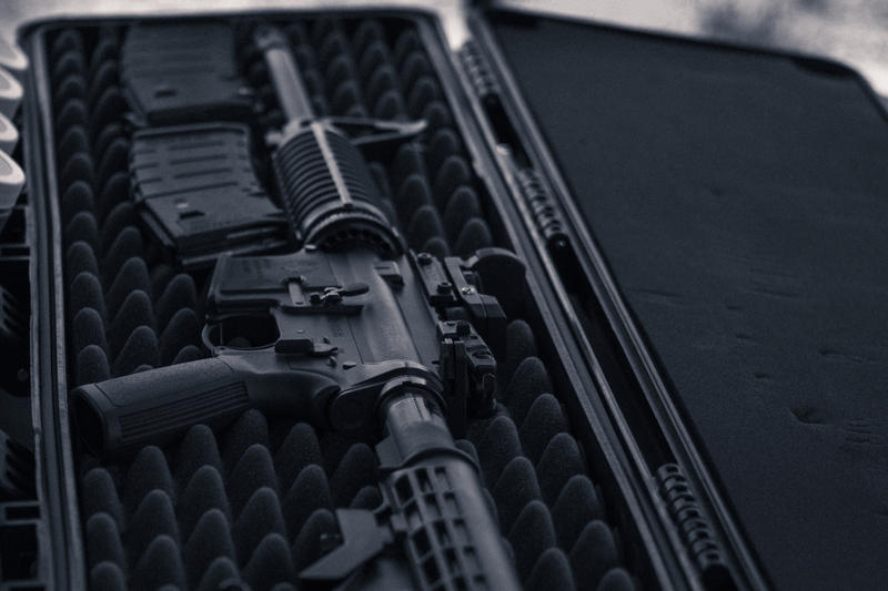 AR 15 in carrier case