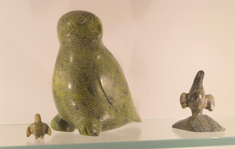 The Inuit art collection encompasses work from the 1940s to the 1970s.