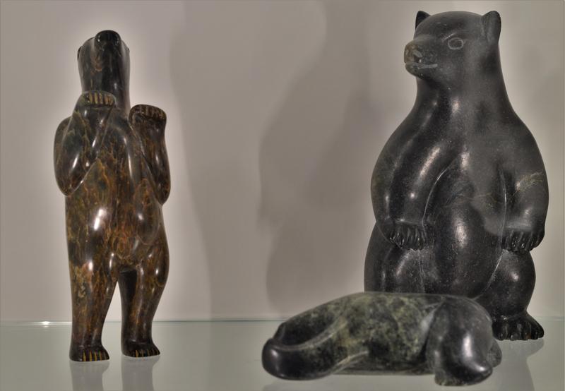 Earlier carvings of bears.