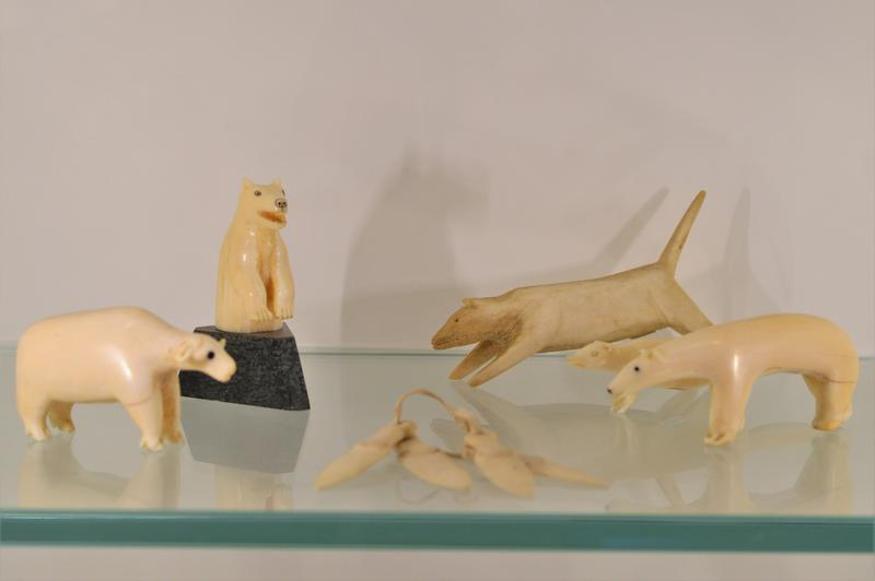 Some of the collection are carvings using bone or ivory.