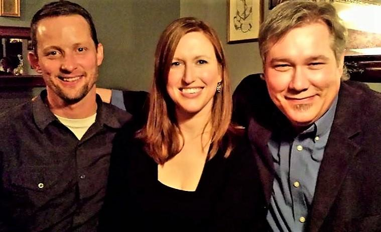 Mark Brush, Rebecca Williams, and Lester Graham in 2014.