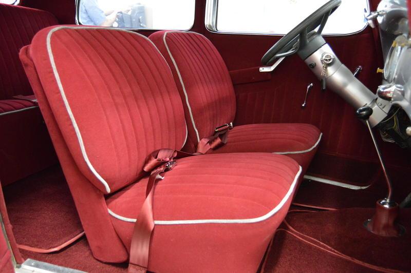 A custom upholstery job on a Hudson.
