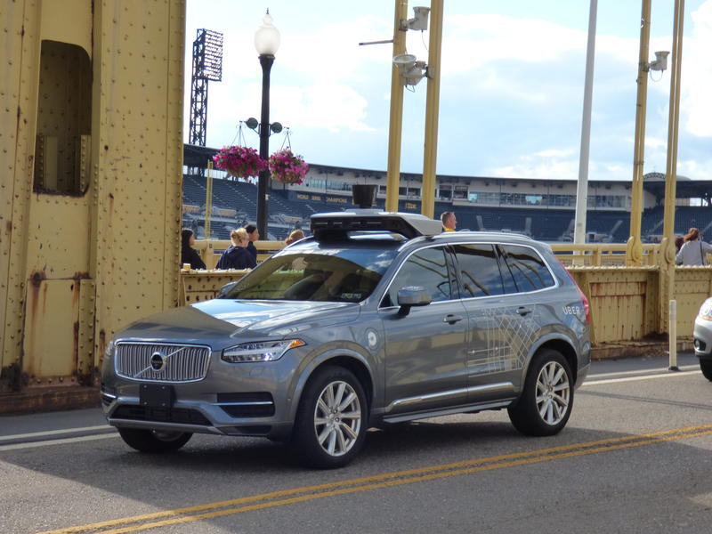 Uber self driving vehicle in Pittsburgh.