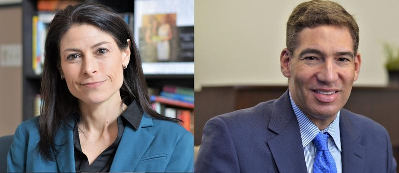 Michigan Democratic attorney general candidates Dana Nessel, left, and Pat Miles.