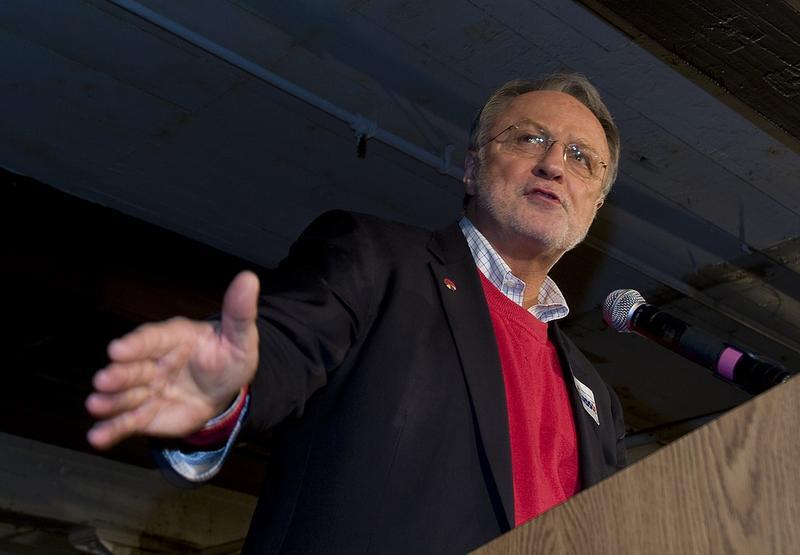 David Bonior at podium
