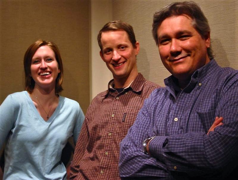Mark, Rebecca, and Lester in 2008