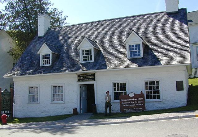 The front of the Mackinac Island Dr. Beaumont museum and fur trade shop
