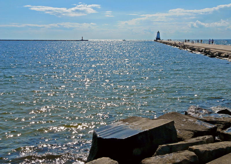 A view from Ludington, Michigan.