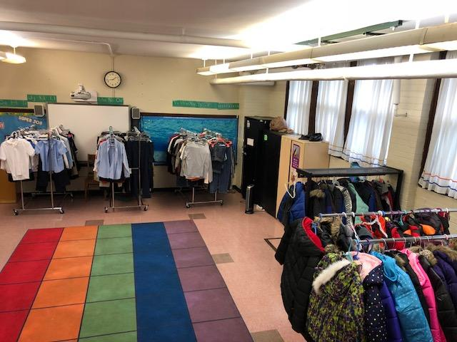 The AL Holmes student store which acts as a free closet for students