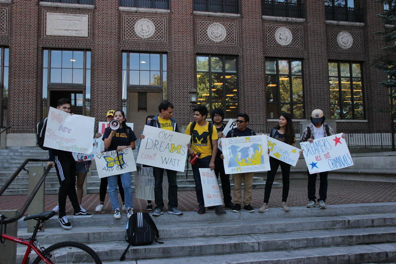 Undocumented students rallying for more support from U of M in Oct. 2017.