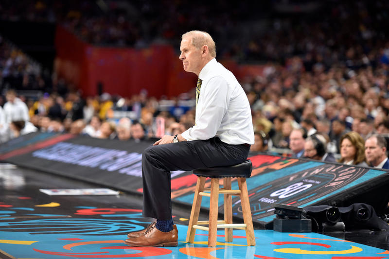 John Beilein at the 2018 NCAA Basketball Championship game.