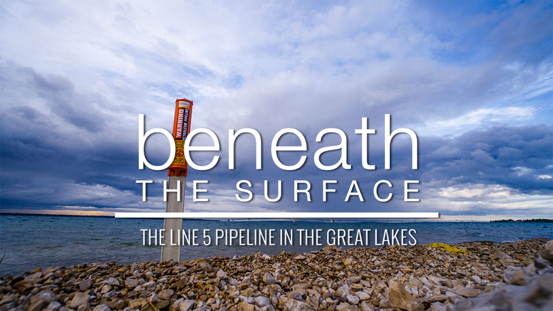 Title screen of 'Beneath the Surface.'