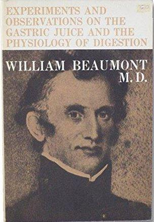 The cover of the book that propelled Beaumont to fame in the medical community