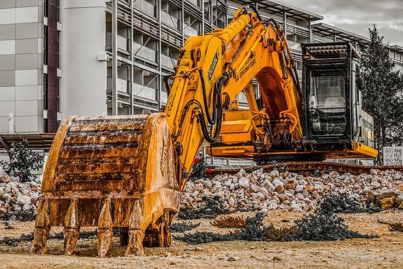 An excavator.