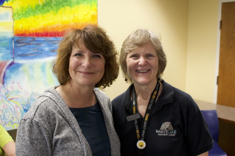 Melissa Schmantowsky (Left) and Denise Harris-Fiems are both employees at the White Lake Township Library