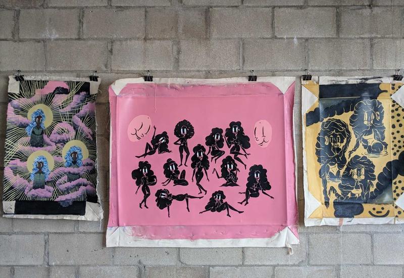 Johnson's Sambo Princess prints hanging in the exhibit