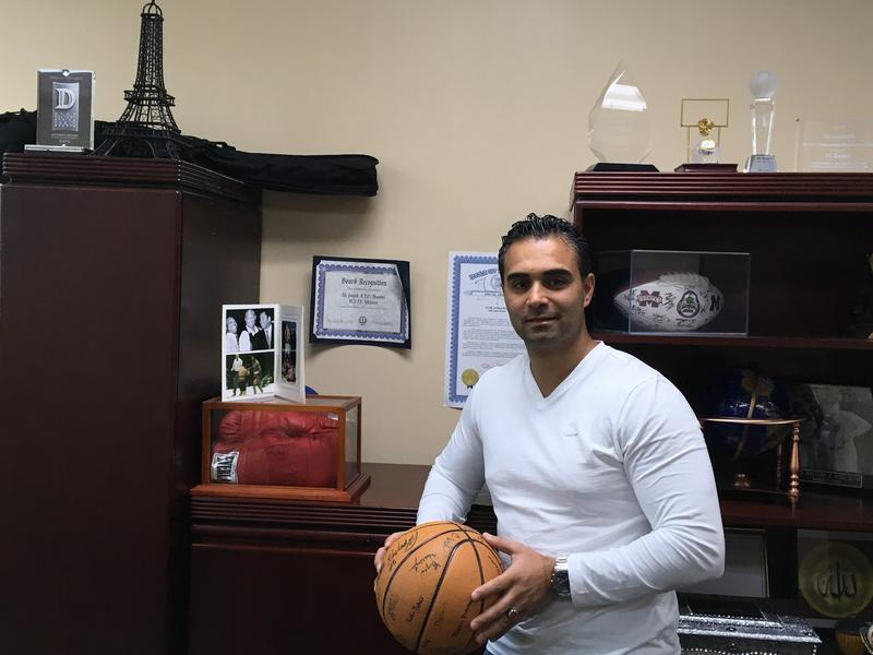 Ali Sayed in his office