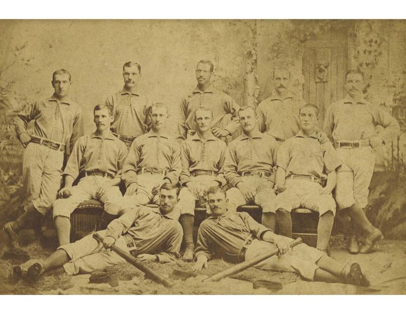 A photo from 1883 of the Toledo Baseball Club