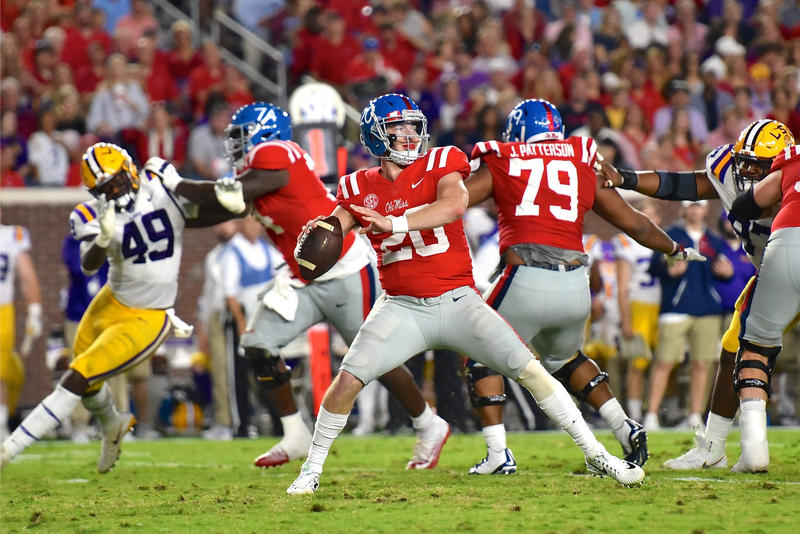 Shea Patterson playing for Ole Miss