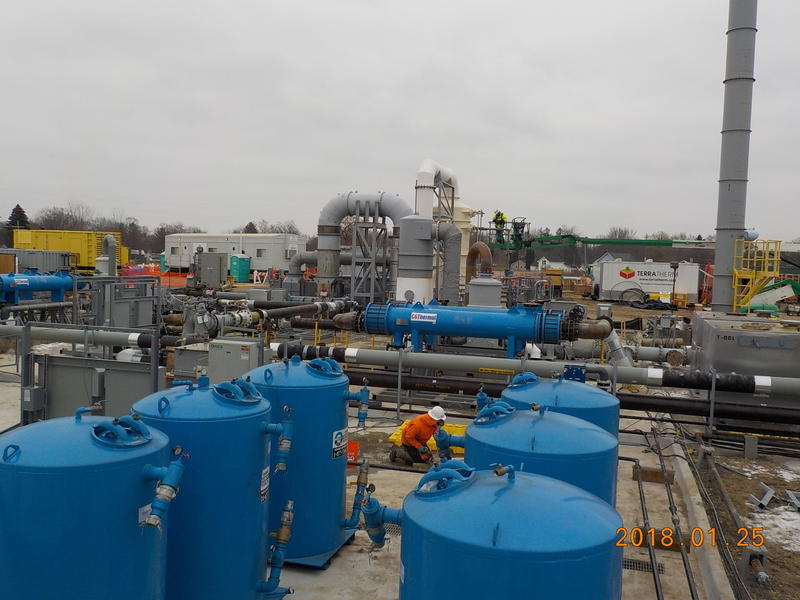 Equipment used for the EPA's in situ thermal cleanup treatment.