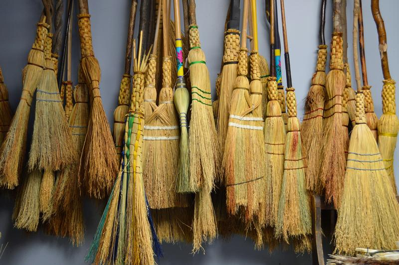 Unlike his father, Henry Tschetter makes many different designs of brooms.