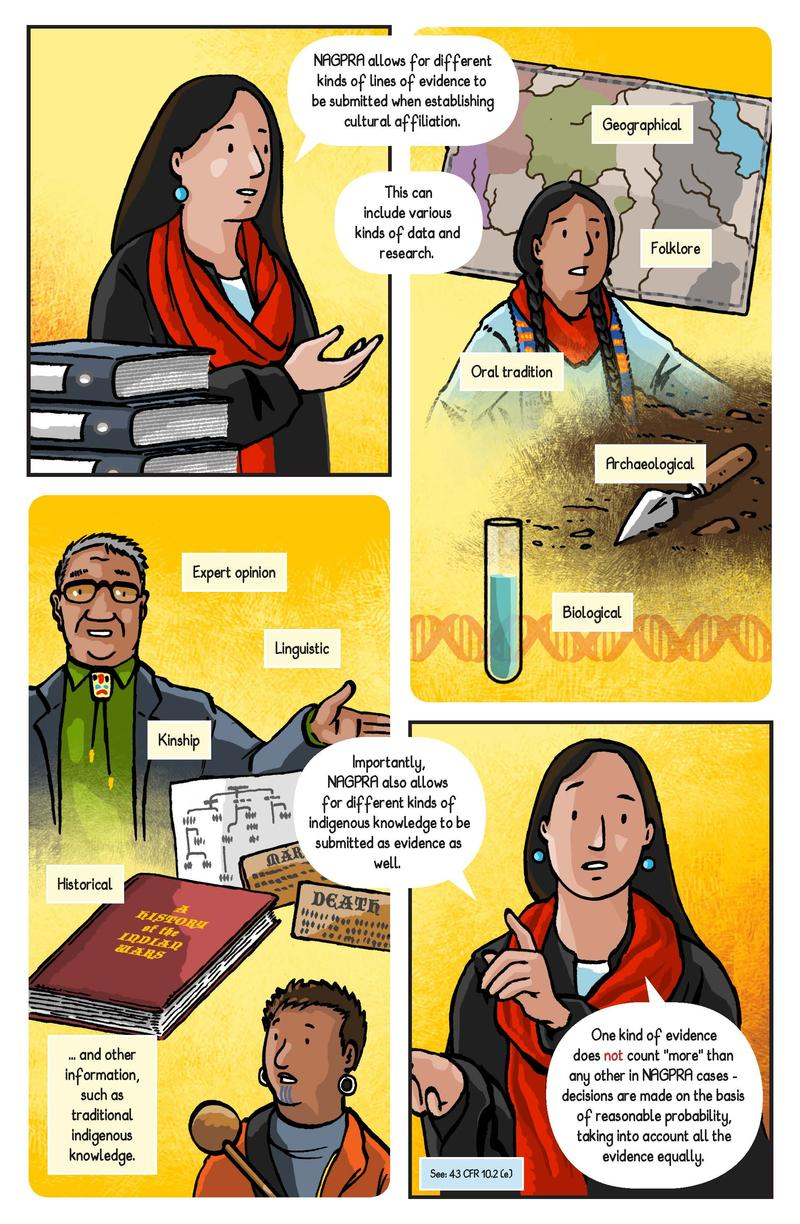 A page from the NAGPRA comic