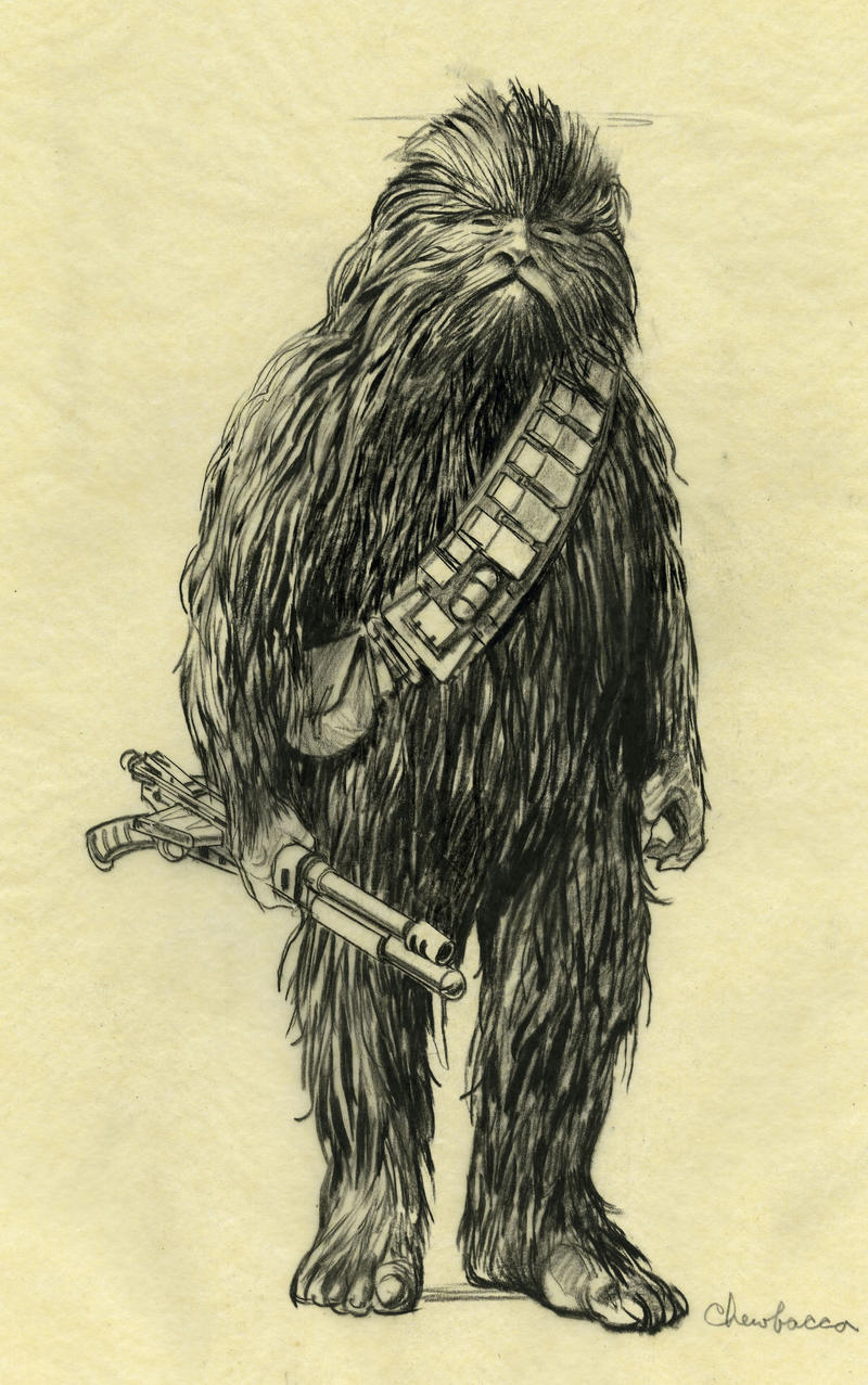 concept art for chewbacca